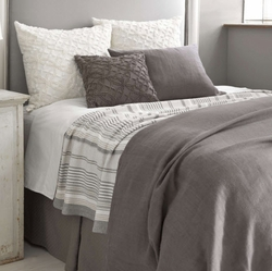Stone Washed Linen Shale Duvet Cover