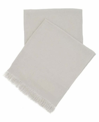 Stone Washed Linen Throw Pearl Grey