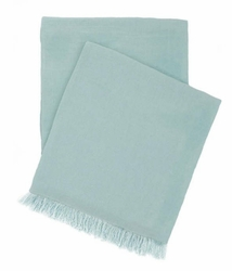 Stone Washed Linen Throw Sky Blue