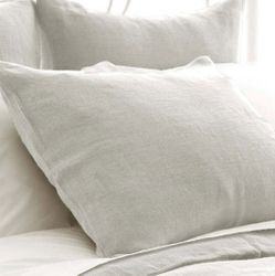 Stone Washed Linen Pearl Grey Sham
