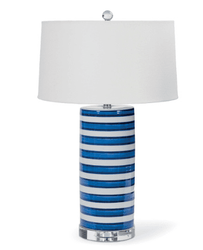 Striped Column Table Lamp <font color=a8bb35> NEW</font>