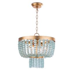 Summer Glass Bead Chandelier Small <font color=a8bb35>NEW</font>