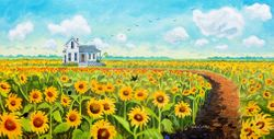 Sunflower Field Beach Print *NEW