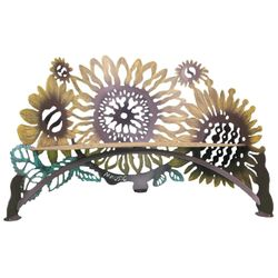Sunflower Metal Garden Bench *NEW*