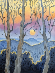 Sunset Through the Trees Beach Print *NEW