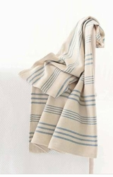 Swedish Stripe Throw<font color=a8bb35> Sold out</font>