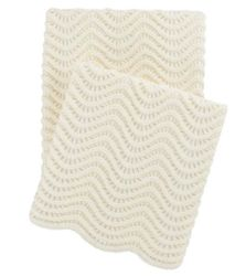Swell Knit Throw Ivory<font color=a8bb35> NEW</font>