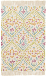 Tahlia Kilim Woven Cotton Rug <font color=a8bb35>NEW</font>