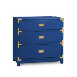 Victoria 3-Drawer Side Table - Blue *Backorder