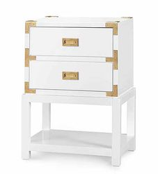 Tansu Two-Drawer Side Table in White *Backorder