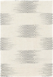 Tansy Grey Woven Wool Rug