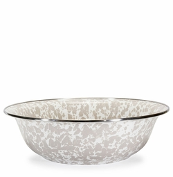 Taupe Swirl Serving Bowl
