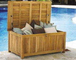 Teak Beach Cushion Storage Box *Backorder