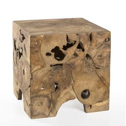 Teak Root End Table *Backorder