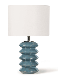 Teton Ceramic Table Lamp <font color=a8bb35> NEW</font>