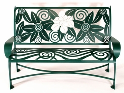 Metal Magnolia Bench