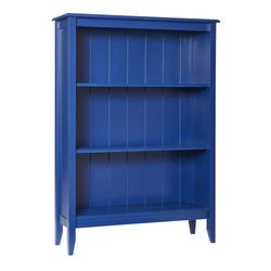 Three Shelf Wide Cottage Bookcase with Options