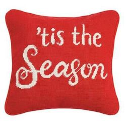 Tis the Season in Red and White Pillow *NEW
