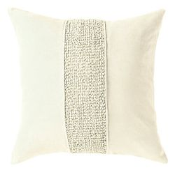 Topaz Pillow - Ivory Oyster <font color=a8bb35> NEW</font>