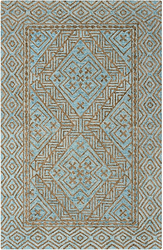 Tori Aqua Hand Tufted Rug <font color=a8bb35> NEW</font>