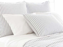Town And Country Grey Matelasse Sham