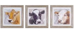 Town & Country Framed Cow Print Set of 3