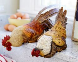 Town & Country Hen with Rooster Shelf Sitter * Backorder