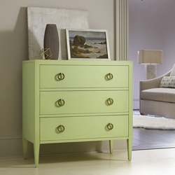 Transitional Three Drawer Chest on Legs
