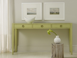 Transitional Three Drawer Console