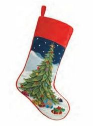 Tree with Presents Christmas Stocking<font color =a8bb35> Sold out</font>