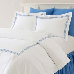 Trio french Blue Duvet Cover