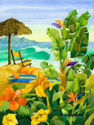 Tropical Holiday Beach Print