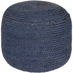 Tropics Jute Pouf Navy Blue<font color=a8bb35> NEW</font>