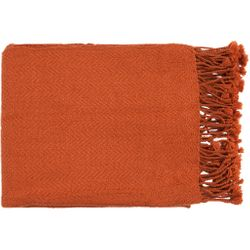 Turner Orange Throw