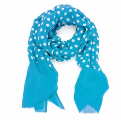 Dots Beach Scarf in Turquoise