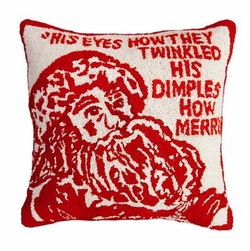 Twinkle Santa Christmas Pillow