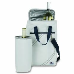 Newport Two Bottle Insulated Wine Tote in Navy *Backorder