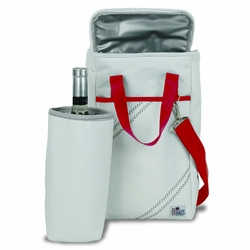 Newport Two Bottle Insulated Wine Tote in Red
