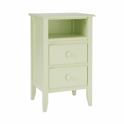 Two Drawer Open Top Nightstand