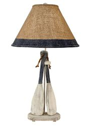 Two-Paddle with Rope Table Lamp