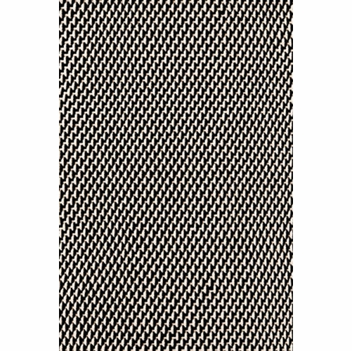 Two Tone Rope Black/Ivory Indoor/Outdoor Rug