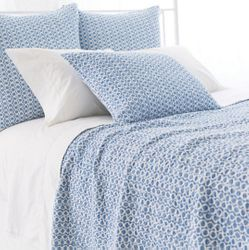Tyler French Blue Quilt 15% Off