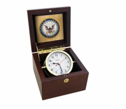 U.S. Navy Square Box Alarm Clock - #7 Emblem *NEW