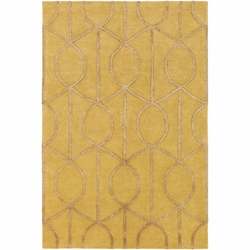 Urban Yellow Hand Tufted Rug <font color=a8bb35> NEW</font>
