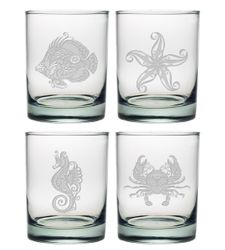 Vintage Coastal DOR Glasses Set of 4
