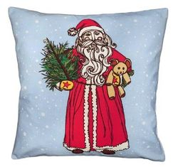 Vintage Santa Christmas Pillow <font color=a8bb35> NEW</font>
