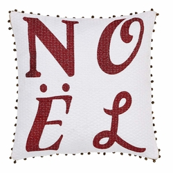 Vintage Stripe Noel Pillow