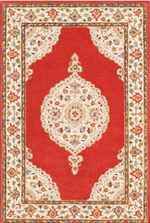Viva Dark Red Hand Tufted Rug <font color=a8bb35> NEW</font>