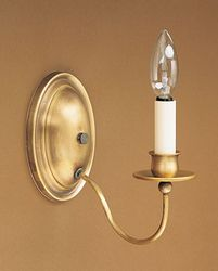One Arm Wall Sconce with Oval Backplate
