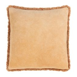 Washed Cotton Velvet Pillow - Camel *NEW*